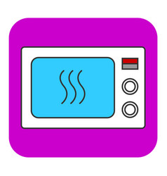the microwave oven icon vector image