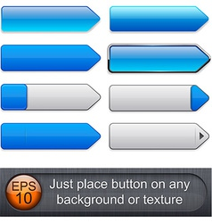 Blue high-detailed modern buttons vector image