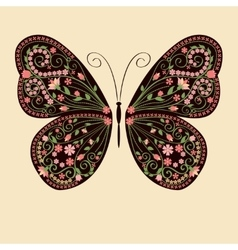 Floral decorative butterfly vector image