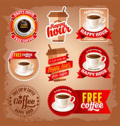 Free coffee vector image vector image