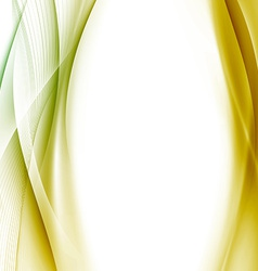 Golden swoosh wave background abstract template vector image vector image