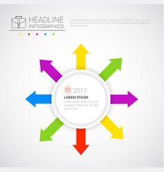 headline infographic business data arrow vector image