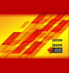 red and yellow geometric abstract background with vector image