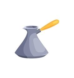 Turkish coffee maker cezve icon cartoon style vector image vector image