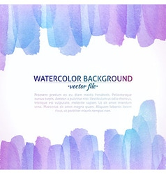 Watercolor Colorful Abstract Background vector image vector image