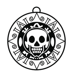 Aztec pirate coin icon simple style vector image vector image