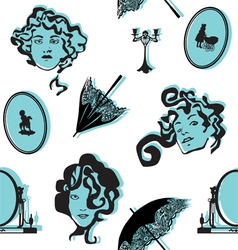 background with vintage items vector image vector image