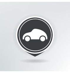 car map pointer vector image