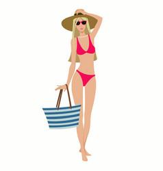 girl in swimsuit vector image