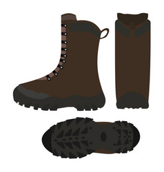 hiking shoes boots isolated vector image vector image