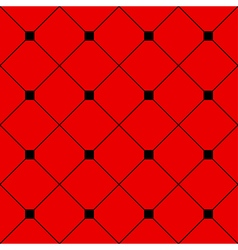 Black Square Diamond Grid Red Background vector image