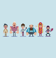 group of people from different trades vector image vector image