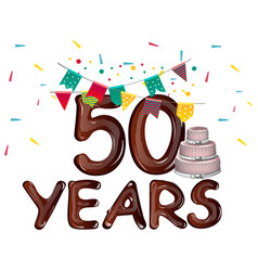 happy birthday fifty 50 year vector image vector image