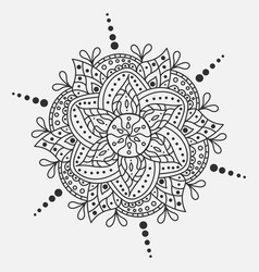 mandala round ornament traditional indian vector image