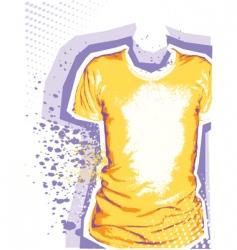 mans t-shirt grunge background vector image vector image