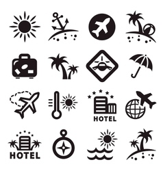 travel ions set vector image vector image