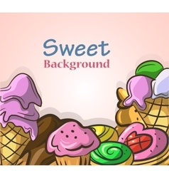 Abstract background with sweets vector