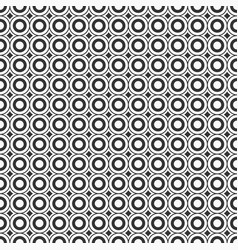 abstract seamless pattern of circles and curved vector image