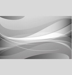 Abstract white and gray curve background vector