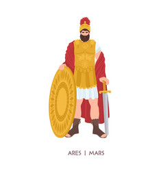ares or mars - olympian god or deity war in vector image
