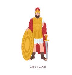 Ares or mars - olympian god or deity war vector