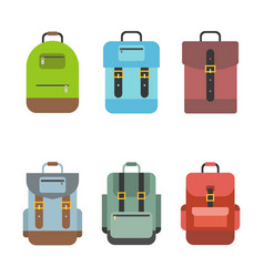Bag icon include rucksack backpack school bag vector