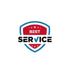 Best service icon shield vector