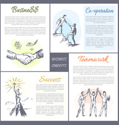 business and co-operation set vector image