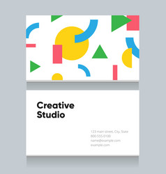 Business-card-memphis-background-1 vector