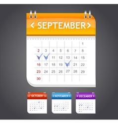 Calendar september vector