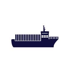 cargo ship icon design template isolated vector image