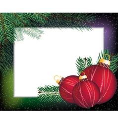 Christmas festive frame vector