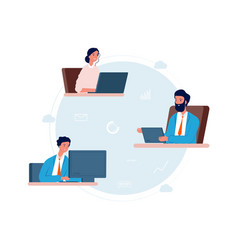 cloud service people work remotely online vector image