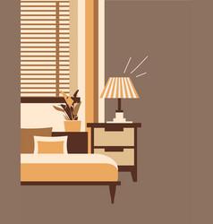 Cute interior a cozy room vector