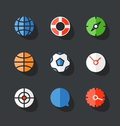 Different round Web icons collection vector image