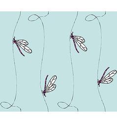 Dragonflies pattern vector
