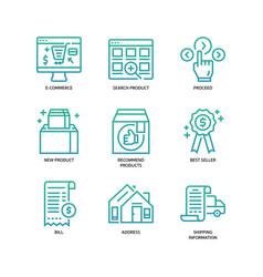 e-commerce website icon vector image