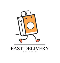fast delivery logo design creative template with vector image