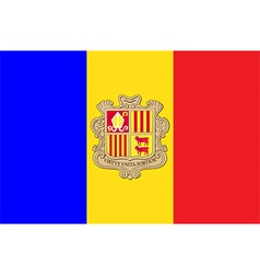 Flags of andorra vector image