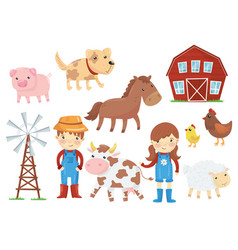 flat of various domestic vector image