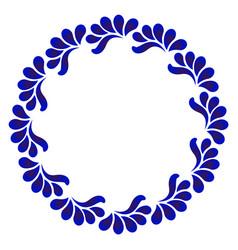 floral frame ceramic style vector image