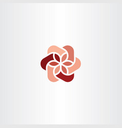 Floral logo icon red abstract business symbol vector