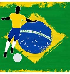 Football Brazil vector image