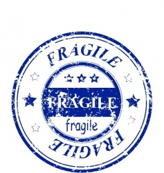 Fragile stamp vector