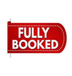 Fully booked banner design vector