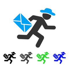 Gentleman mail courier flat icon vector