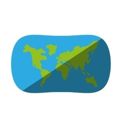globe earth map navigation shadow vector image