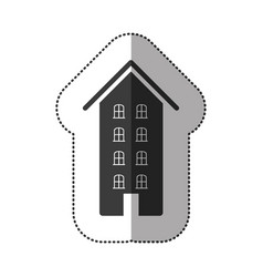 Gray hotel house image vector