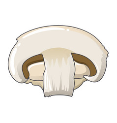 half of champignon icon cartoon style vector image