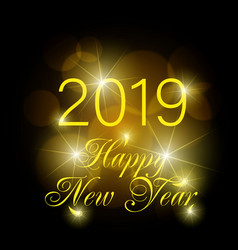 happy new year 2019 text design greeting vector image